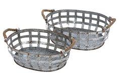 S/2 Farmstand Trays on OneKingsLane.com
