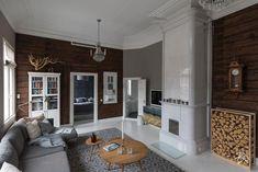5 x lämmin ja tunnelmallinen koti hirrestä Pizza Oven Outdoor, Wooden House, Nordic Style, Log Homes, My House, Cabin, Living Room, Outdoor Decor, Home Decor