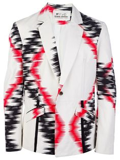 Henrik Vibskov White Trim Blazer for men High End Fashion, Blazers For Men, White Trim, Women Brands, Fashion Prints, Winter Coat, Print Patterns, Mens Fashion, Mendoza