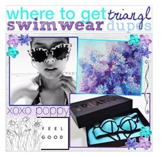"""662. where to get triangl swimwear dupes"" by fresh-tips ❤ liked on Polyvore"