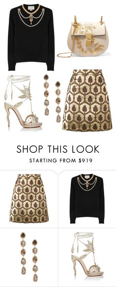 """Untitled #221"" by cxndai ❤ liked on Polyvore featuring Gucci, Saqqara, Christian Louboutin and Chloé"