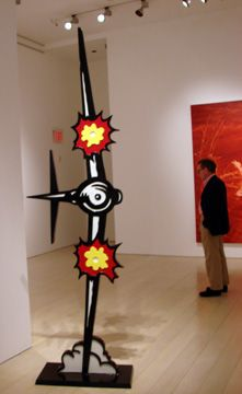 """""""Airplane"""" (1990), by Roy Lichtenstein. A painted and patinated bronze (series of 6)."""