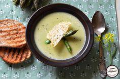 Supa crema de sparanghel Supe, Cheeseburger Chowder, Hummus, Ethnic Recipes, Food, Essen, Meals, Yemek, Eten