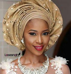 Pretty #asoebi #asoebispecial  #speciallovers #wedding #makeover #dope #headgear  MUA @laseenah Asooke @aso_ebi_couture