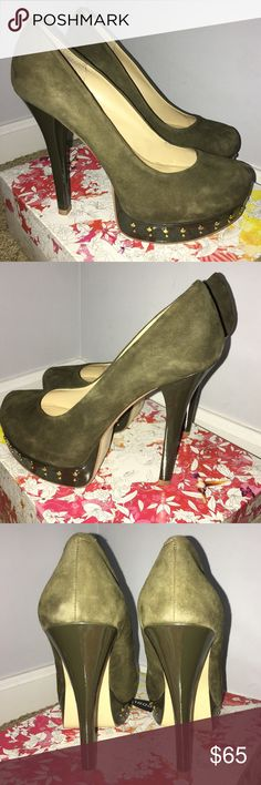 Chinese Laundry Suede Heels Chinese Laundry Olive Green Suede Platform Heels. Size 10. Worn 1x. Chinese Laundry Shoes Heels