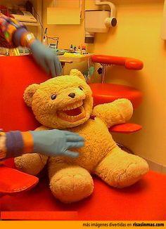 Osito en el dentista.