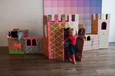 van dozen karton kun je super leuke kasteel maken voor je kids