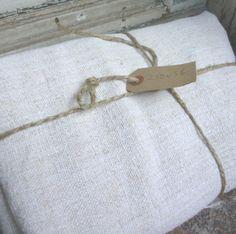 Nubby, slubby, vintage linen. #textiles