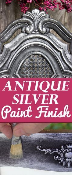 Antique Silver Furniture Finish 2019 Another beautiful Paint Finish Technique by Heather Tracy brought to you by Heirloom Traditions Paint co. Great Technique for Furniture! The post Antique Silver Furniture Finish 2019 appeared first on Furniture ideas. Painting Antique Furniture, Silver Furniture, Antique Paint, Refurbished Furniture, Paint Furniture, Repurposed Furniture, Rustic Furniture, Furniture Makeover, Vintage Furniture