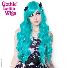 Gothic Lolita Wigs® <br> Classic Wavy Lolita™ Collection - Teal -00047