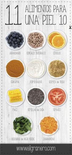 Logra una piel de 10 con estos alimentos! #ConTuMarca