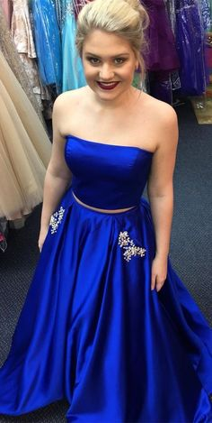 Long Prom Dresses Princess, 2019 Royal Blue Prom Dresses With Pockets, Satin Prom Dresses Gorgeous, Strapless Prom Dresses With Beading Senior Prom Dresses, Strapless Prom Dresses, Prom Dresses For Teens, Best Prom Dresses, Formal Dresses For Women, Prom Dresses Online, Prom Dresses Blue, Formal Evening Dresses, Dance Dresses