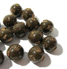 Brown Czech Glass Diminutive Buttons Fifteen (15) VINTAGE Diminutive Brown Glass Buttons Antique Vintage Button Jewelry Supplies (T209) by punksrus on Etsy