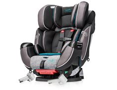 """Courtney, What a great car seat for when the baby outgrows the infant seat. Evenflo Symphony DLX Platinum Protection Series All in One Car Seat - Tennison - Evenflo - Babies""""R""""Us Cadillac, Best Convertible Car Seat, Best Car Seats, Baby Gadgets, Babies R Us, Child Safety, Baby Gear, Emerson, Baby Essentials"""