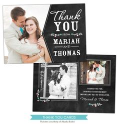 Thank You cards Photoshop template