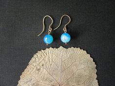 Blue agate earrings. Aqua blue earrings Blue by MADAMBLUEONE, $10.00