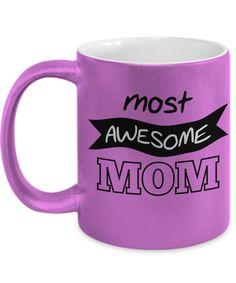 Awesome Mug, Mom Mug, Mother's Day Mug, Mother's Day Gift, Gift for Mom, Purple