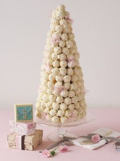 Tower of truffles by Adora Handmade Chocolates.