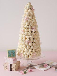 Tower of truffles by Adora Handmade Chocolates.