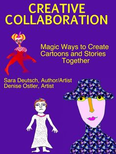 CREATIVE COLLABORATION is an interactive book about seeing in new ways and making magical drawings out of scribbles, doodles and inkblots that create characters and tell stories. It's about the art of collaboration that combines two partner's different media, styles and ideas to create more than each can alone.