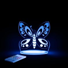 Aloka SleepyLights Butterfly Multi Color Changing LED Night Light with Remote Butterfly Nursery, Butterfly Kids, Butterfly Design, Soothing Colors, Nightlights, Color Changing Led, Baby Nursery Decor, Led Night Light, Light Led
