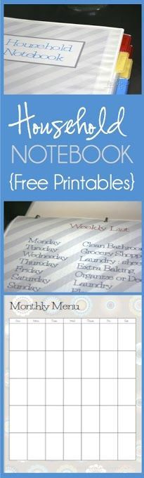 Dozens of free organizational printables in various styles.