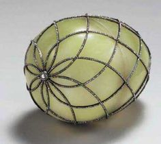 Diamond Trellis Egg    Date1892    ProvenancePresented by Alexander III to Czarina Maria Fyodorovna