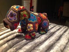 Max the bulldog made from Heidi bears pattern