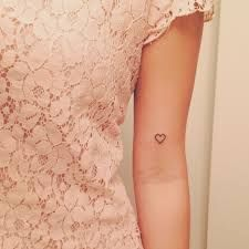 small heart tattoo x 2 next to each other - outline only