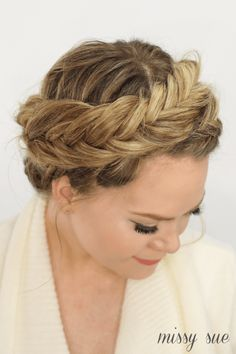 Fishtail Crown Braid. Work HairstylesBraided ...