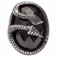 Snake Black CZ Serpent Sterling Silver Ring Sizes 5-9 [R-Snake-Black] - $240.00 : Black Orchid Couture, Gothic, Punk, Steampunk, Rockabilly Clothing and Fashion