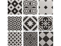 Les carreaux de ciment reviennent à la mode en déco. J'aime le patchwork de dalles à motifs mais cela ne va pas dans toutes les maisons. J'aime l'ancien authentique et rénové mais pas forcément l'ancien dans une maison moderne. Voici ma sélection de carrelage...