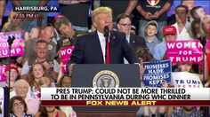"""""""A large group of Hollywood actors and Washington media are consoling each other in a hotel ballroom in our nation's capital right now.""""  Moments ago at a rally in Harrisburg, Pennsylvania, President Donald J. Trump slammed the White House Correspondents' Dinner. http://fxn.ws/2pKaUzm"""