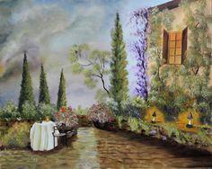 Toscana. olaj,farost, 40x50