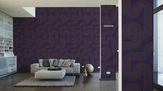 MICHALSKY LIVING Tapete 939363; Simuliert Auf Der Wand Tapete Holzoptik,  Schwarze Fliesen, Barock