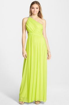Hailey Logan One-Shoulder Open Back Gown (Juniors) available at #Nordstrom