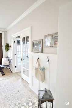 Farmhouse entry way New master bathroom color - Collingwood by Benjamin Moore Wall Paint Colors, Paint Colors For Home, Living Room Paint Colors, Basement Wall Colors, Off White Paint Colors, Entryway Paint Colors, Office Wall Colors, Light Paint Colors, Best Neutral Paint Colors