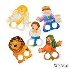 Daniel & the Lions' Den Finger Puppets, Hand & Finger Puppets, Novelty Toys, Toys, Games & Novelties - Oriental Trading Bible Story Crafts, Bible Stories For Kids, Bible Crafts For Kids, Church Activities, Bible Activities, Daniel And The Lions, Children's Church Crafts, Bible Games, Bible Coloring Pages
