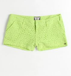 Volcom Frochickie Laced Shorts in Lime