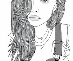 Tumblr Hipster, Tumblr Bff, Hipster Art, Tumblr Drawings, Art Drawings, Girly Drawings, Tumblr Tattoo, Tumblr Outline, Videos Kawaii