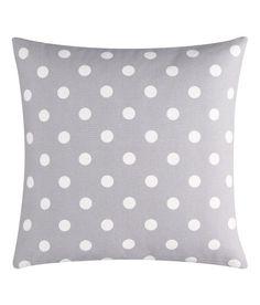 H&M Home - Gray & White Polka Dot Cushion Cover