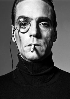 Jeremy Irons | United Kingdom, by Michel Comte for Interview Magazine, ca1990 Uploaded By  www.1stand2ndtimearound.etsy.com