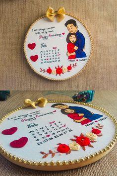 Diy Embroidery Hoop Wall Art, Hand Embroidery Patterns Flowers, Creative Embroidery, Applique Embroidery Designs, Hand Embroidery Designs, Floral Embroidery, Birthday Gifts For Boyfriend Diy, Boyfriend Girlfriend, Custom Calendar