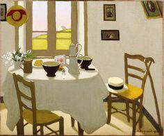 Marius Borgeaud (Swiss, 1861-1924)   White room (La chambre blanche), 1924.  Oil on canvas.  VISION