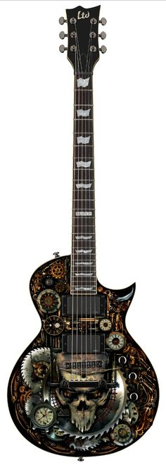 ESP LTD EC-CLOCKWORK ZOMBIE-II GRAPHIC ELECTRIC GUITARS GUITAR LEC-CZ2 #esp #espltd #guitar #electricguitar