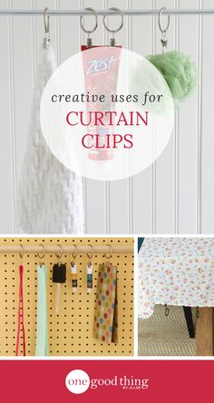 Check out these 10 clever ways to use curtain clips around your house, for everything from home decor to storage and organization!