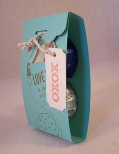 Scallop Tag Topper Punch Treat Holder, Stampin' Up!, Love You to the Moon, Kid's Valentine  www.stampingcountry.com