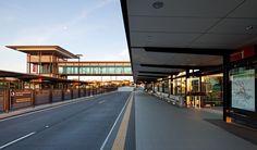 Bus Rapid Transit station, Brisbane, Qld, Australia - 2nd generation busway station designed by dT architecture