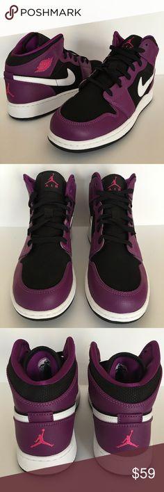 Nike Air Jordan 1 girl's size 6.5y (women's 8) Brand new Nike Air Tech Challenge Kids size 7y (women's 8.5). Replacement box. Never worn Jordan Shoes Sneakers