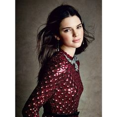 Kendall Jenner's First Full Spread For Vogue Magazine ❤ liked on Polyvore featuring models